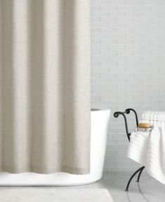 "Hotel Collection Linen 72"" x 84"" Extra Long Shower Curtain, Only at Macy's"