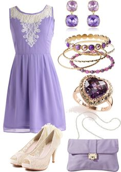 """""""Lavender Dress"""" by anesbitt09 ❤ liked on Polyvore"""