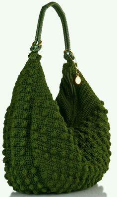 Bolsa Crochet ponto Pipocas | Ateliê Arte do Vale Paranaíba | Elo7