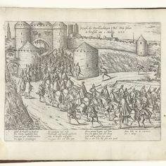 Entrada de don Juan en Bruselas, 1577. Intocht van Don Juan te Brussel, 1577, Frans Hogenberg, 1577 - 1579 - Rijksmuseum