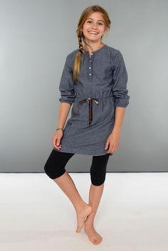 Tilda Shirtdress in Chambray blue | Olive Juice #tweenfashion