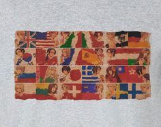 Axis Powers Hetalia many flags Tee T-Shirt Shirt