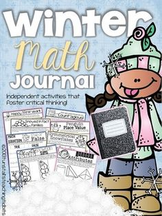Winter Math Journal--So excited to use this!! :)