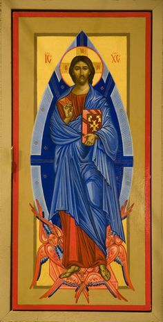 Christ in Glory – Iconography Institute Images Of Christ, Religious Images, Religious Icons, Religious Art, Christus Pantokrator, The Transfiguration, Paint Icon, Christ Is Risen, Byzantine Icons