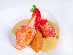 Bogavante asado con crema de marisco € Restaurante Álbora Madrid (Madrid) Reserva online para comer bogavante. EligeTuPlato.es