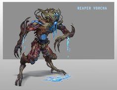 Reaper Vorcha by ~AndrewRyanArt on deviantART Mass Effect Reapers, Mass Effect 1, Mass Effect Universe, Critical Role Fan Art, Original Trilogy, Science Fiction Art, Monster Art, Creature Design, Fantasy Creatures