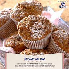 Overnight bran & date muffins #recipe