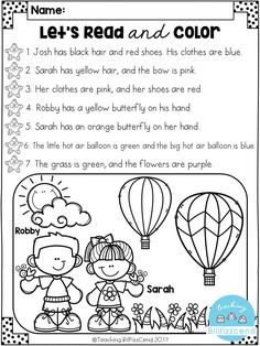 FREE Read and Color Listening Comprehension These are super duper cute read and color pages. Perfect for your first grade students. These can also be used as listening comprehension for your kindergarten students. Reading Comprehension Activities, Reading Fluency, Reading Response, Comprehension Strategies, Preschool Reading Activities, Ell Strategies, First Grade Activities, Teaching Reading, Teaching Art