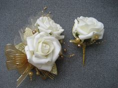 50th Anniversary Corsage And Boutonniere Set by DESIGNSBYDME, $24.95