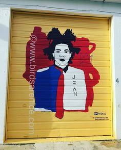 Jean Michel, 2016. Acrylic on metal, outdoors. 11 x 13'. #streetart #murals #painting #urbanart #basquiat #painting #contemporaryart @ppgpaints @ppgindustries @ppgporterpaints