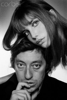 Serge Gainsbourg and Jane Birkin in the courtyard of the French National College of Fine Arts, Paris1969. January 1, 1970                                       ...