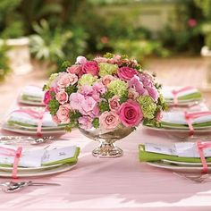 Beautiful special occasion table setting!