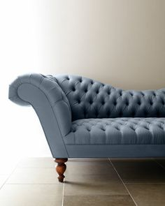 """""""Ellsworth"""" Recamier Sofa by Old Hickory Tannery at Neiman Marcus."""