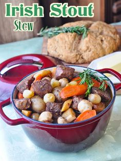 St. John's Stout Stew - The perfect Irish stew for St. Patrick's Day; the fantastically deep rich gravy is what makes this stout stew so outstanding. Local vegetables, Irish soda bread and craft beer make it even more delicious. A whole wheat soda bread recipe is included.