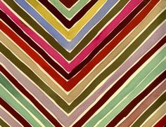 Multi-colored v pattern Luli Sanchez handpainted textile