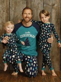 Pijama Little Blue House Pattened Trees