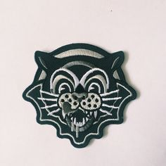 """Designed by Daggers For Teeth especially for Bad Cats Club! Embroidered sew/iron on patch - 3"""" x 3"""" £1 from every pin sold is normally..."""