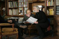 "Jean-Louis Trintignant and Michael Haneke in ""Amour"" (2012)"
