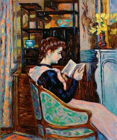 Mlle Guillaumin Reading Print By Jean Baptiste Armand Guillaumin