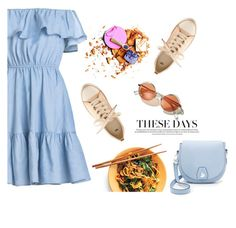 """""""these days"""" by theworldisatourfeet ❤ liked on Polyvore featuring rag & bone, H&M, polyvorecommunity, polyvoreeditorial and blueandpeach"""
