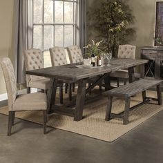 Loon Peak® Todd Creek Extendable Dining Table
