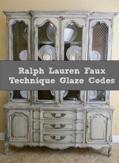 Ralph Lauren Faux Technique Glaze CODES