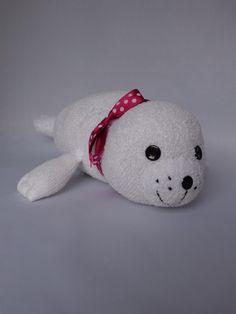 RESERVED FOR BETH Seal Pup Plush Toy Sock Seal von SockSockWorld