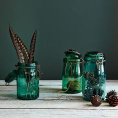 Vintage French Green Canning Jar
