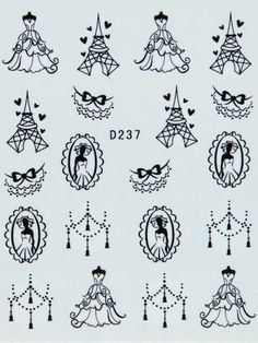 Paris Romance Print Nail Art Water Transfer by SweetNailStuff, $2.00