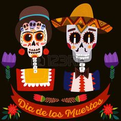 Illustration of Mexican sugar skull-Day of the dead. vector art, clipart and stock vectors. Frida Kahlo Birthday, Dead Images, Candy Skulls, Skateboard Design, Antique Show, Flower Skull, Mexican Party, Love Pictures, Day Of The Dead
