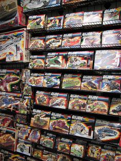 "A collection of boxed G.I.Joe vehicles from Hasbro's 1980s-era line of 3 3/4"" action figures"