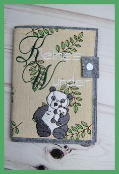 Mutterpasshülle aus Filz bestickt mit Pandabär Motiv, Handarbeit in Kleidung & Accessoires, Damenmode, Umstandsmode | eBay!