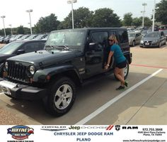 #HappyAnniversary to Angela Cotten on your 2011 #Jeep #Wrangler Unlimited from Zach Stanley at Huffines Chrysler Jeep Dodge RAM Plano!