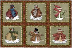 Machine Embroidery Patterns - Snowmen CD 5
