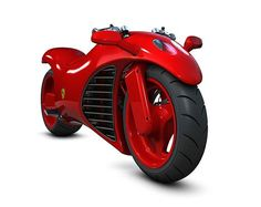Ferrari‑Motorcycle, Fire Engine Red Beast on two wheels