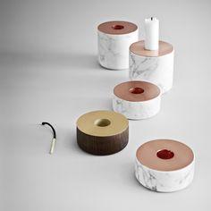 Menu Chunk of Marble Candleholder by Andreas Engesvik