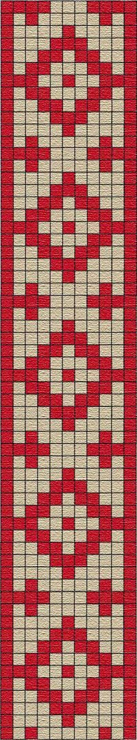 FREE PATTERN for tapestry crochet : Guarda pampa (pattern from Argentina) Inkle Weaving, Inkle Loom, Card Weaving, Seed Bead Patterns, Peyote Patterns, Weaving Patterns, Cross Stitch Patterns, Tapestry Crochet Patterns, Bead Loom Patterns