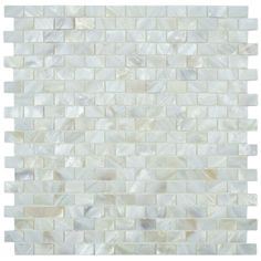 SomerTile Seashell Subway White Mosaic Tile (Pack of 10) - fireplace surround or replace kitchen subway tile w/this?