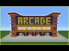 Minecraft Tutorial: How To Make An Arcade Minecraft Modern City, Minecraft City Buildings, Minecraft Mansion, Cute Minecraft Houses, Minecraft Room, Minecraft House Designs, Minecraft Architecture, Minecraft Creations, Minecraft Crafts