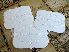 DIY Thank You Cards/ Thank You Notecards for Wedding or Parties