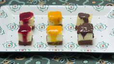 Cheesecakehapjes met speculaasbodem, framboos, mango of chocolade | VTM Koken