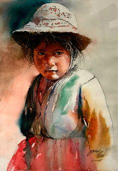 Las acuarelas andinas de Rogger Oncoy Rogger Oncoy es un acuarelista peruano que nació el 18 de mayo de 1964 y que vive en Ancash, Huaraz, Perú. Hoy os traemos una serie de acuarelas suyas que refl…