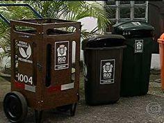 Bom Dia Brasil - Aluno de design cria recipiente prefeito para o lixo no Rio de Janeiro