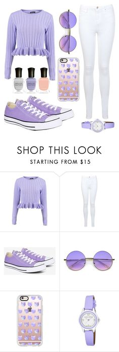 """more lavender"" by adahitch ❤ liked on Polyvore featuring Boohoo, Miss Selfridge, Converse, ZeroUV, Casetify, Laura Ashley and Deborah Lippmann"