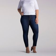 Lee Women's Modern Anna Skinny Ankle Jeans - Plus Size::20W:L
