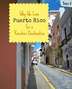 Why We Love Puerto Rico for a Vacation....been here a few times, but I have to add this to my list because I always want to visit....!