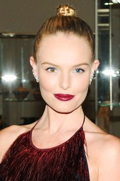 Kate Bosworth's slick-backed bun.
