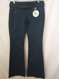BCBGeneration Pants Size 29 Flare Leg Casual Teal Denim New #BCBGeneration #CasualPants