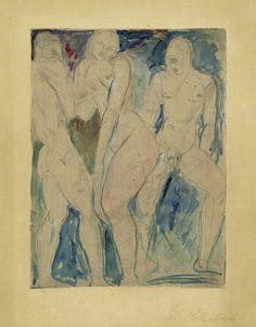 Wilhelm Lehmbruck - Die Sklavin 1914 #Lehmbruck #painting Berlin, Contemporary Art, Vintage World Maps, Collage, Watercolor, Drawings, Illustration, Prints, Painting