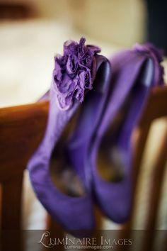 RSVP-brand purple pumps, heels